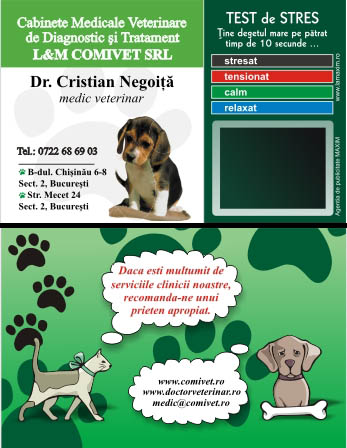 Card de stres plastifiat